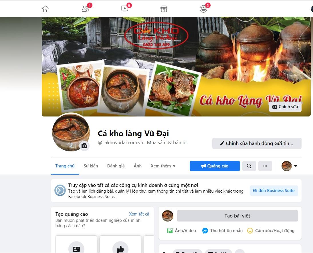 Bạn có thể mua Cá Kho Làng Vũ Đại trên facebook