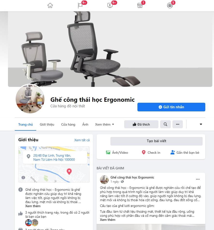 Mua ghế Ergonomic ở facebook