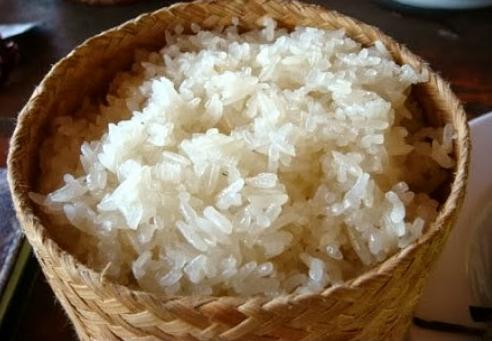 Xôi gạo nếp nương khi chín